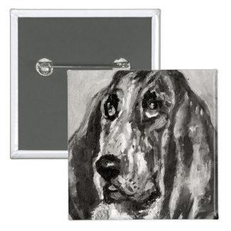 Head of a Dog Running, 1880 Button