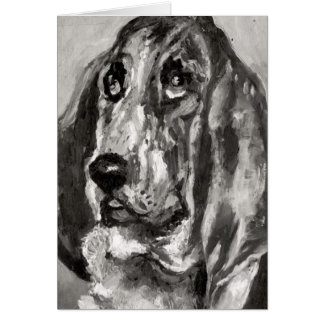 Head of a Dog Running, 1880 Greeting Card