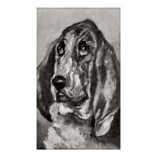 Head of a Dog Running, 1880 Posters