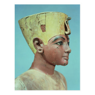 Head of a 'dummy' of the young Tutankhamun Postcard