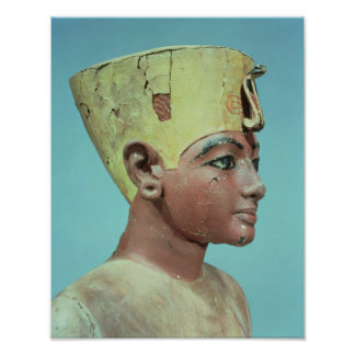 Head of a 'dummy' of the young Tutankhamun Poster