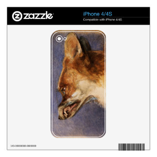 Head of a Fox Skin For The iPhone 4