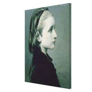 Head of a Girl, 1867 Canvas Print