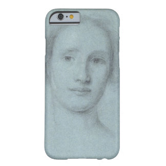Head of a Girl (black and white chalk on blue laid Barely There iPhone 6 Case