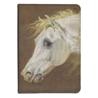Head of a Grey Arabian Horse (oil on canvas on pan Kindle Touch Case