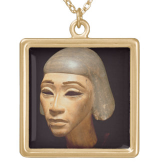 Head of a Harpist, from Tell El-Amarna, c.1370-136 Square Pendant Necklace