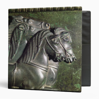 Head of a horse from a quadriga 3 ring binder