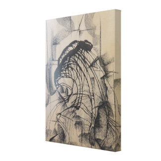Head of a King Abstract Canvas Print