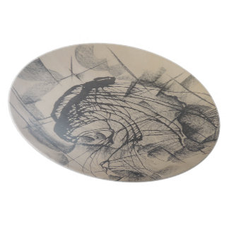 Head of a King Abstract Dinner Plate