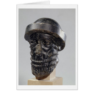 Head of a king, possibly Hammurabi, king of Babylo Card