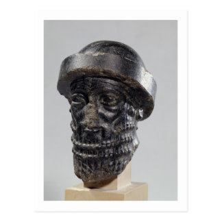 Head of a king, possibly Hammurabi, king of Babylo Postcard