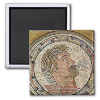 Head of a man 2 2 inch square magnet