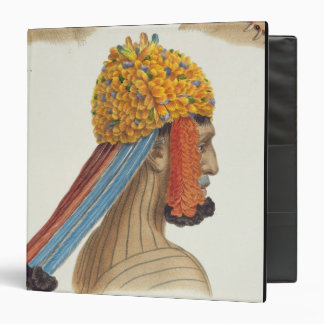Head of a man from the Mundrucu tribe, from 'Trave 3 Ring Binder