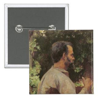 Head of a Man, Monsieur Etienne Devismes, 1882 2 Inch Square Button