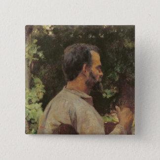 Head of a Man, Monsieur Etienne Devismes, 1882 Pinback Button