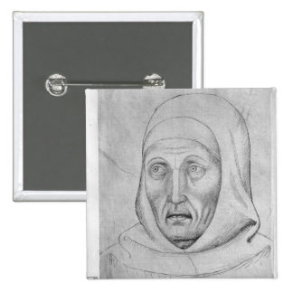 Head of a monk, from the The Vallardi Album Button