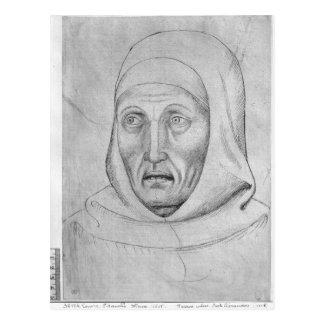 Head of a monk, from the The Vallardi Album Postcard