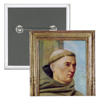 Head of a Monk Pinback Button