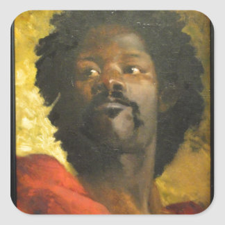 Head of a Moor Square Sticker