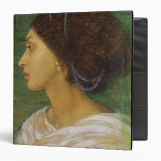 Head of a Mulatto Woman, 1861 (oil on paper laid o 3 Ring Binder