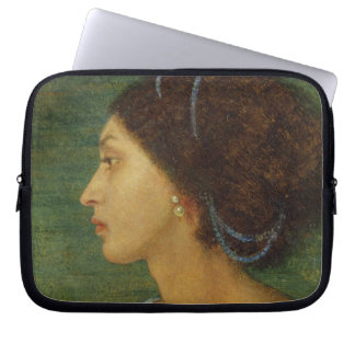 Head of a Mulatto Woman, 1861 (oil on paper laid o Laptop Sleeve
