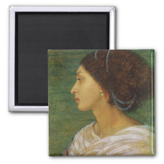 Head of a Mulatto Woman, 1861 (oil on paper laid o Refrigerator Magnets