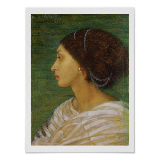 Head of a Mulatto Woman, 1861 (oil on paper laid o Poster