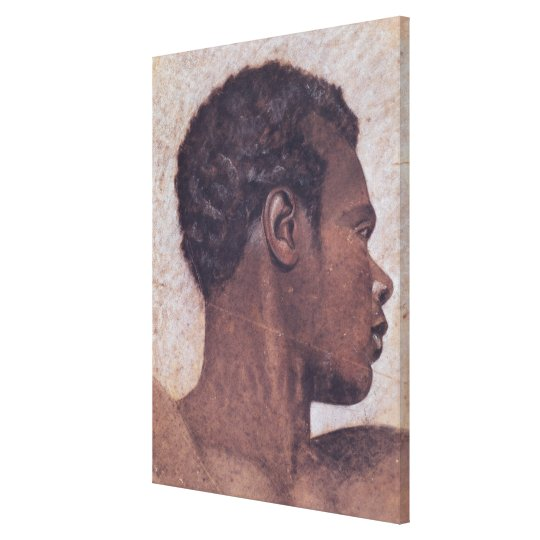 Head of a Negro Canvas Print