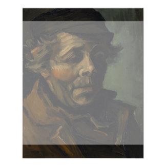 "Head of a Peasant by Vincent Van Gogh 4.5"" X 5.6"" Flyer"