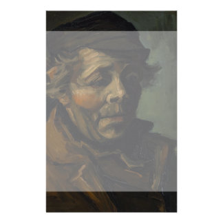 "Head of a Peasant by Vincent Van Gogh 5.5"" X 8.5"" Flyer"