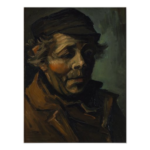 Head of a Peasant by Vincent Van Gogh Photo Print