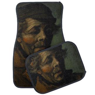 Head of a Peasant by Vincent Van Gogh Car Mat
