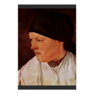 Head Of A Peasant Girl By Leibl Wilhelm Print