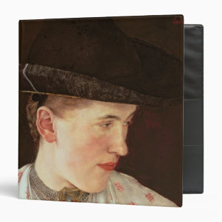 Head of a Peasant Girl c 1880 3 Ring Binders