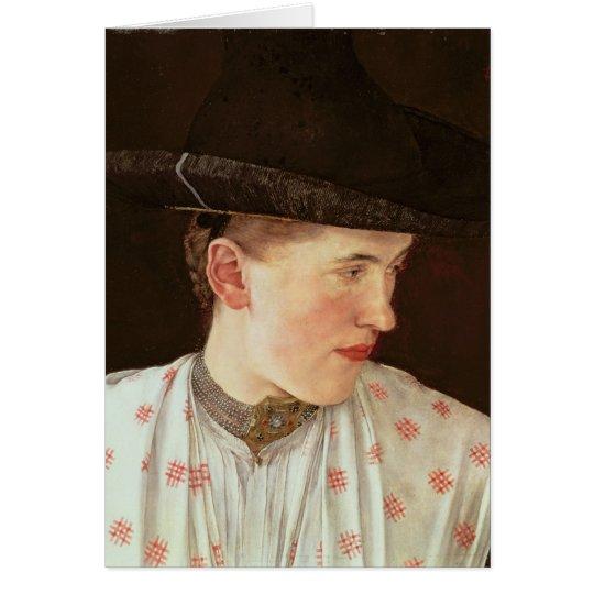 Head of a Peasant Girl, c.1880 Card