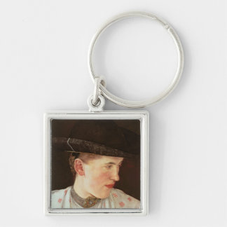 Head of a Peasant Girl, c.1880 Keychain