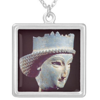 Head of a prince, from Persepolis Silver Plated Necklace