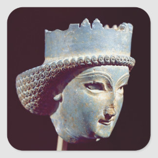 Head of a prince, from Persepolis Square Sticker