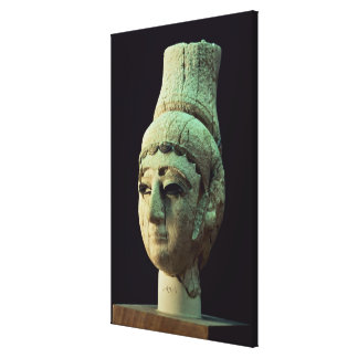 Head of a Prince or Princess of Ugarit (ivory) (se Canvas Print