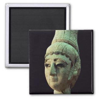 Head of a Prince or Princess of Ugarit ivory se Fridge Magnets