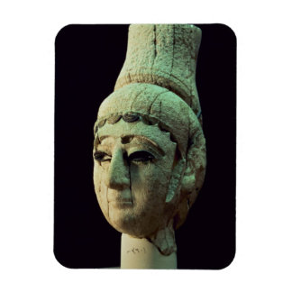 Head of a Prince or Princess of Ugarit ivory se Rectangular Magnets