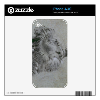 Head of a River-God, c.1751 (black chalk heightene Decal For The iPhone 4S