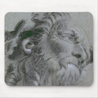 Head of a River-God, c.1751 (black chalk heightene Mouse Pad