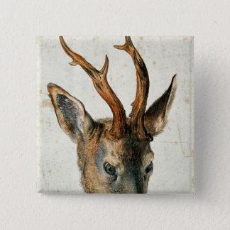 Head of a Roe Deer Button