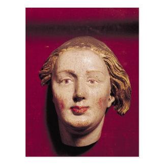 Head of a saint, c.1520 postcard