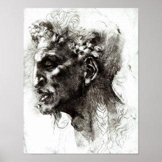 Head of a Satyr Print