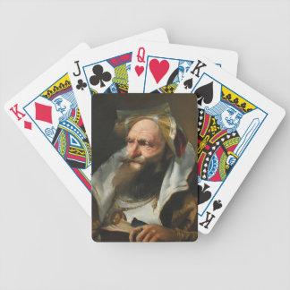 Head of a Scholar by Giovanni Domenico Tiepolo Poker Cards