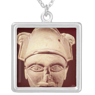 Head of a Semite chief with Egyptian influence Silver Plated Necklace