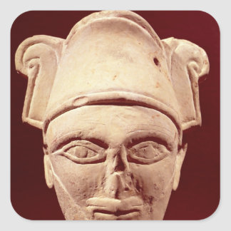 Head of a Semite chief with Egyptian influence Square Sticker