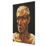 Head of a Shipwrecked Man Canvas Print